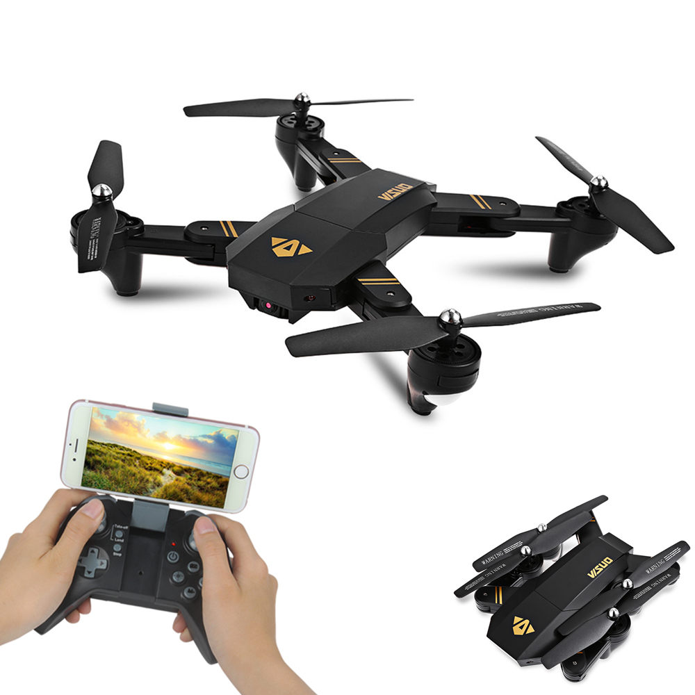 все цены на VISUO XS809HW XS809W Wifi FPV Drone Foldable Selfie Drone With 0.3MP 2MP HD Camera Altitude Hold Quadcopter VS JJRC H37 RC Dron