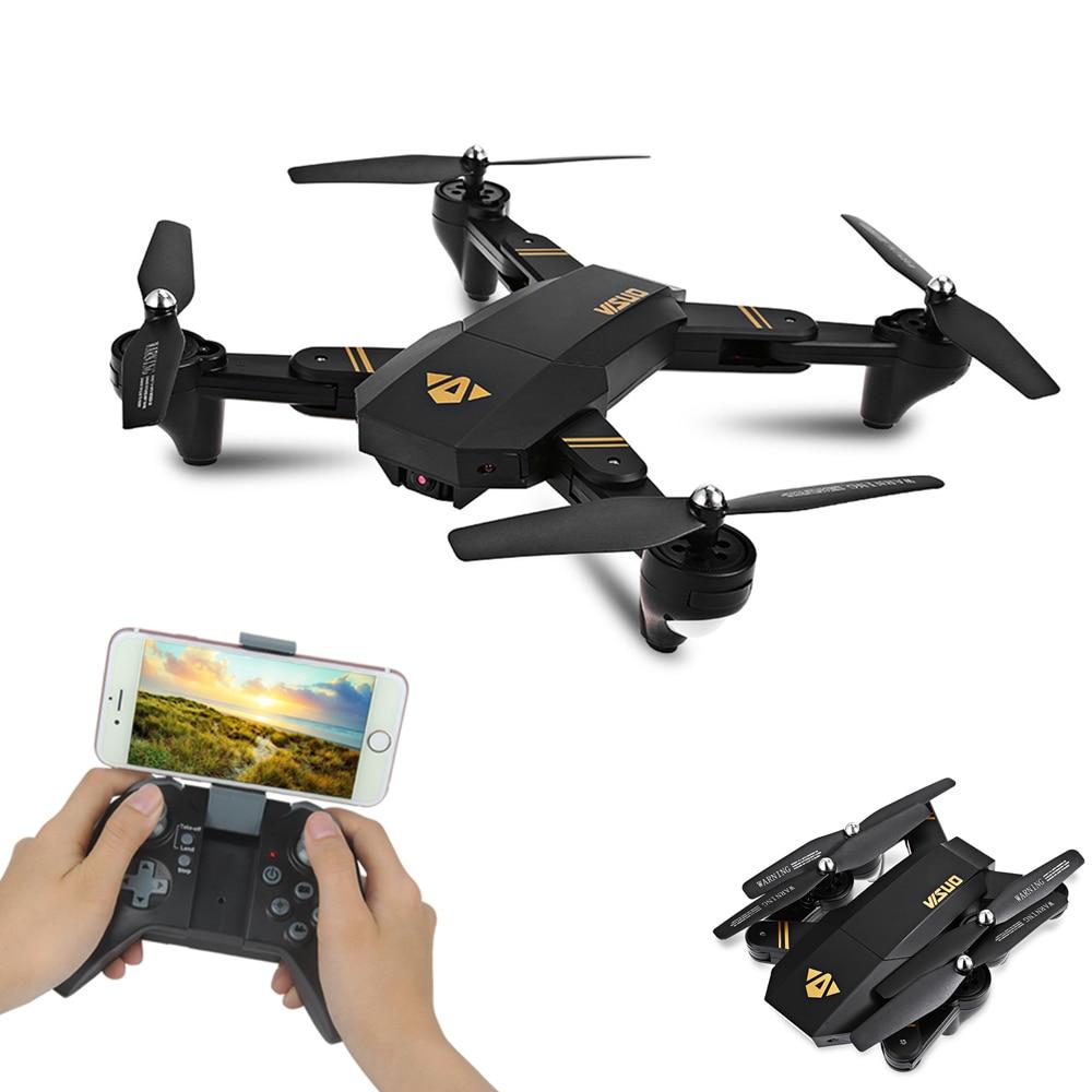 VISUO XS809HW XS809W Wifi FPV Drone Pieghevole Selfie Drone Con 0.3MP 2MP HD Della Macchina Fotografica il Mantenimento di Quota Quadcopter VS JJRC H37 RC Dron