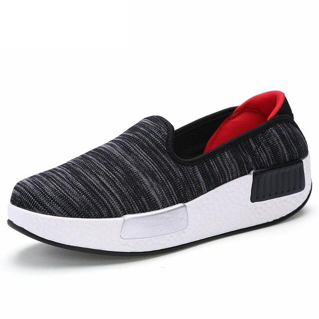 2017 Women's Shoes Fashion Outdoor Casual Platform Women Vulcanize Shoes Ladies Canvas Shoes Woman Black