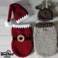 0-6months Christmas  Theme Newborn Baby Boys Girls Knitting Sleeping Bag Baby Christmas Gift Beanies Hat + Sleepwear 2pcs