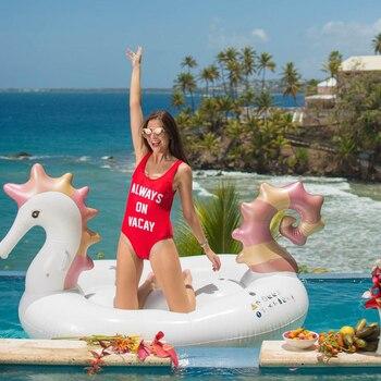 6989f4faf8ae 250 cm 98 pulgadas gigante de caballito de mar flotador inflable de la  piscina 2019 el más nuevo anillo de natación de unicornio juguetes de  fiesta de ...
