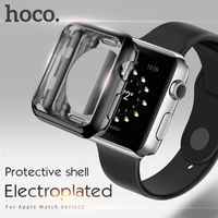 HOCO Cover Plating Hard Silicone Watchbands For Apple Computer Screen Saver Complete 38 42 Mm Silver