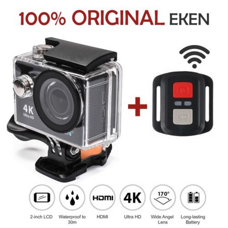 H9 H9R Action camera with Remote Sport Camera Ultra HD 4K/60fps WiFi 2.0 170D Underwater Waterproof Helmet Cam Camera Sport Cam goodpa h9 h9r action camera remote ultra hd 4k wifi camcorder 1080p 60fps 2 0 lcd 170d helmet go 30m waterproof pro sport camera