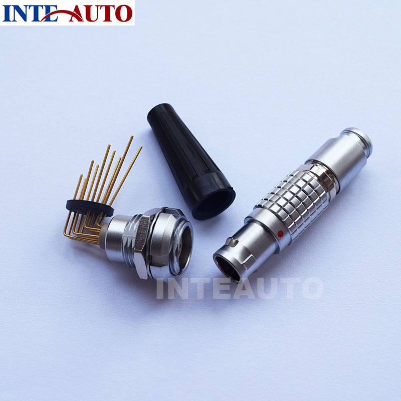 LEMO connector,Metal wire plug,receptacle with elbow PCB contacts,cross FGG ECG,M12 connector,male female connector novello dn 8rb deutsch 8 wire receptacle blk