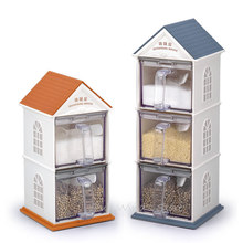 Creative simple little house seasoning cans Storage Bottles Cute Kitchen House Jars