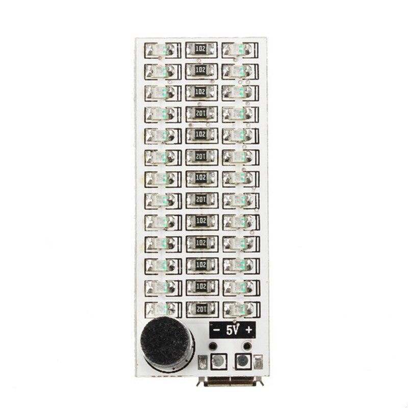 Mising 1 шт. 2x13 светодиодный s модули USB мини музыкальный спектр светодиодный голосовой контроль Чувствительность Регулируемая