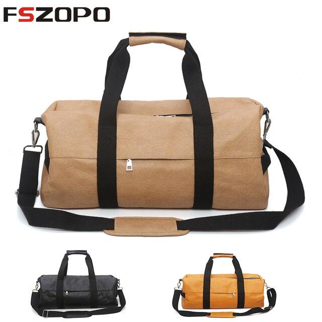 75b765c8a57d Multifunctional Women PU Soft Leather Fitness Gym Bags For Men Striped Training  Shoulder Sport Bag Handbag