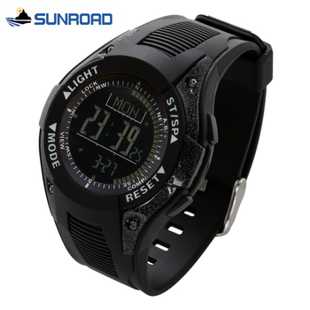 цена на SUNROAD Watch Waterproof Digital Wrist Watch w/Altimeter+Barometer+Compass+World Time+Stopwatch Sport Watch Clock Men Women Saat