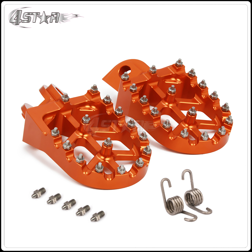 Free Shipping Billet MX Foot Pegs pedals Foot Rests For KTM 65-990 All Models Except 690 Motorcycle Dike Bike Offroad Motard
