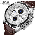 JEDIR Watch Men Chronograph Date Luminous Quartz-Watch Mens Watches Top Brand Luxury Sport Leather Wristwatch relogio masculino