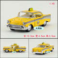1:40 12.5 cm Kinsmart de regalo para bebé 1957 Chevrolet Chevy taxi aleación tire hacia atrás de aleación modelo de coche fresco muchacho de los niños juguete