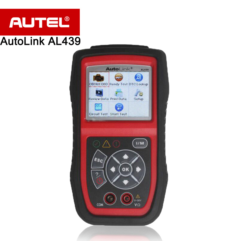 Autel AutoLink AL439 OBD2 OBDII Scanner/Code Reader Patented One-Click I/M Readiness Key MultiMeter AVO Meter/Turn off MIL etc. 100% original autel maxidiag elite md701 all system ds model obdii auto code reader md 701 for japanese cars