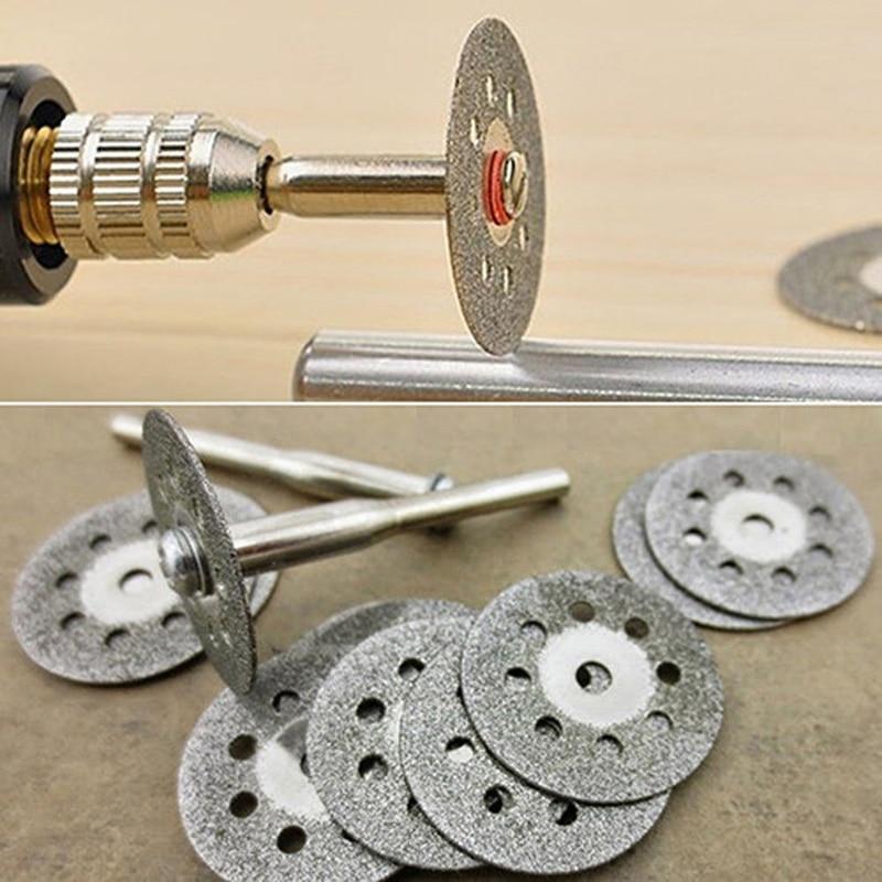 10pcs Circular Saw Blades Cutting Wheel Discs+2pcs Mandrels Set Rotary Tool Carbon Steel Drill Accessories Hard Material Cutting(China)
