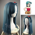 New light blue can be straightened hot popular Dragon Ball Bulma wigs women long straight hair cosplay wig