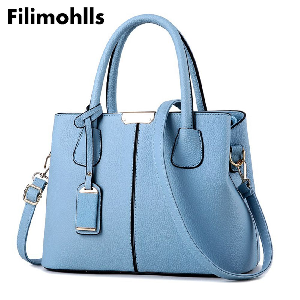 PU Leather Top-handle Women Handbag Solid Ladies Lether Shoulder Bag Casual Large Capacity Tote Messenger Crossbody Bags F-115