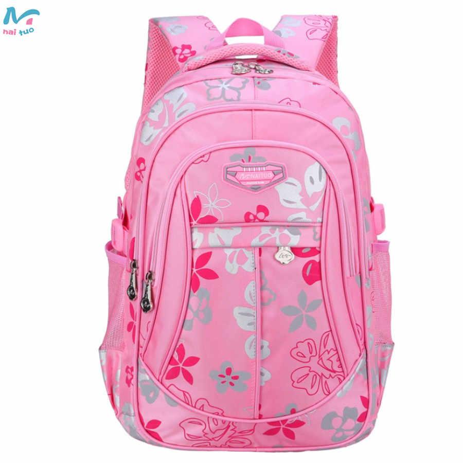 f2780462247f ... Naituo Floral Printing Waterproof Kids Backpack School Bags For Teenager  Girls