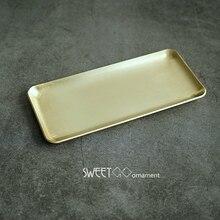 SWEETGO Gold messing tray tools dessert dekorateure gebürstet metallplatte für süße tisch home dekoration fotografie requisiten