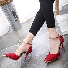 Gamiss высокие каблуки дамы насосы замши золото металл острым носом сексуальные Тонкие Пятки Воздуха Обувь женщины Красные Сандалии Свадьбу обувь(China (Mainland))