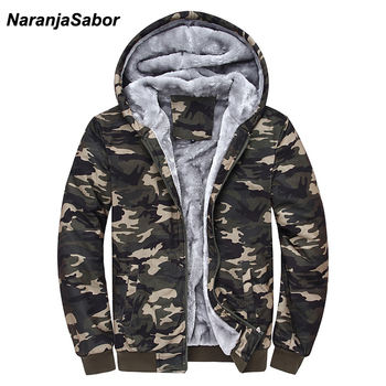 Camouflage Hoodies Army Green Mens Clothing Fleece Male Sweatshirts