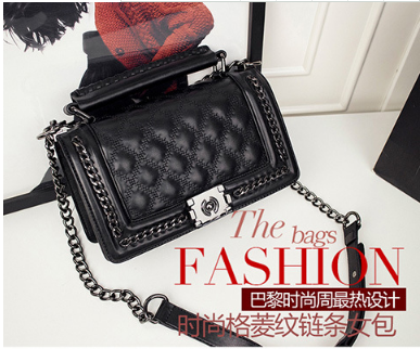 lkprbd Female fashion design all-match europe small fragrant spicy rhombus chain bag lock Small Shoulder Bag Messenger Bag lemon design chain bag