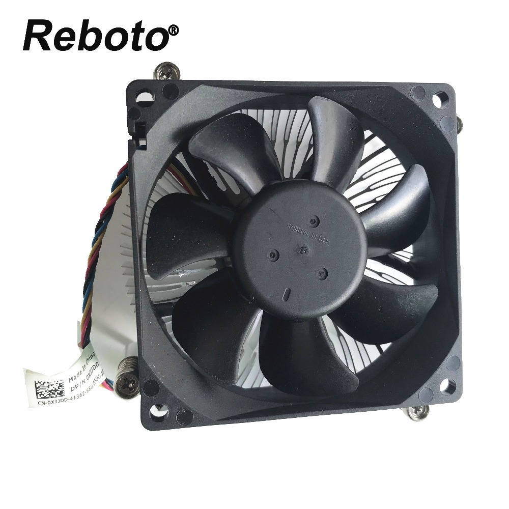 US $30 4 5% OFF|Reboto New Original For DELL Optiplex 3010 7010 9010 3020  7020 9020 Heatsink With Fan 0X3JDD 0X3JDD 100% Tested Fast Ship-in Fans &