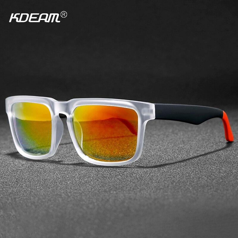 19c6c90a48 KDEAM atemporal UV400 K-Bloque de gafas de sol hombres 10 colores  disponibles 43' diseño de gafas de sol espejo fácil de tomar tonos gafas de  sol