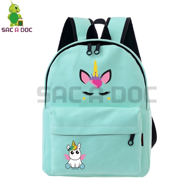 4d276902aaf1 Cute Dab Unicorn School Bags for Teenage Girls Cartoon Backpack Women Small Backpack  Candy Color Bookbag