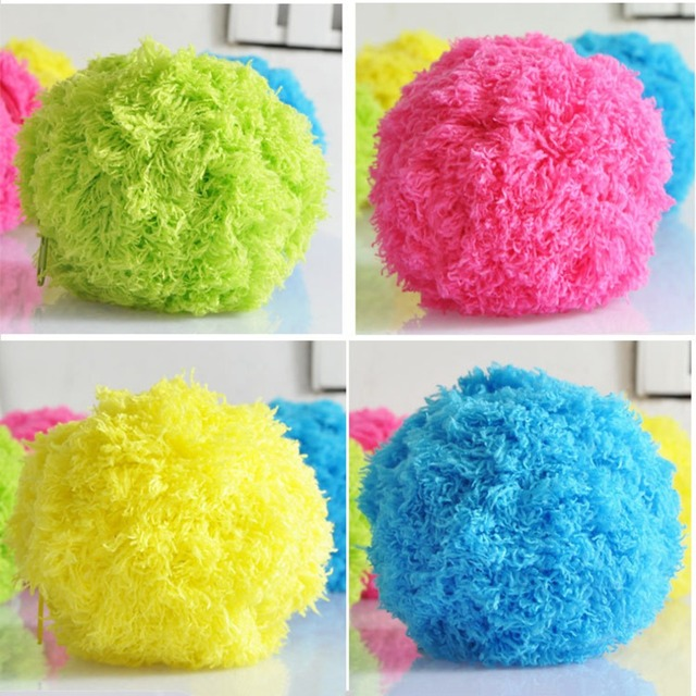 4 Colors Innovative Home Rolling Vacuum Cleaner Ball Pocket Size Automatic Microfiber Floor Cleaner Pet Dogs Funny Toys Balls