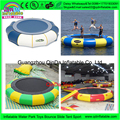 Amusement trampoline outdoor,floating island inflatable water jumping bed ,water park equipment price
