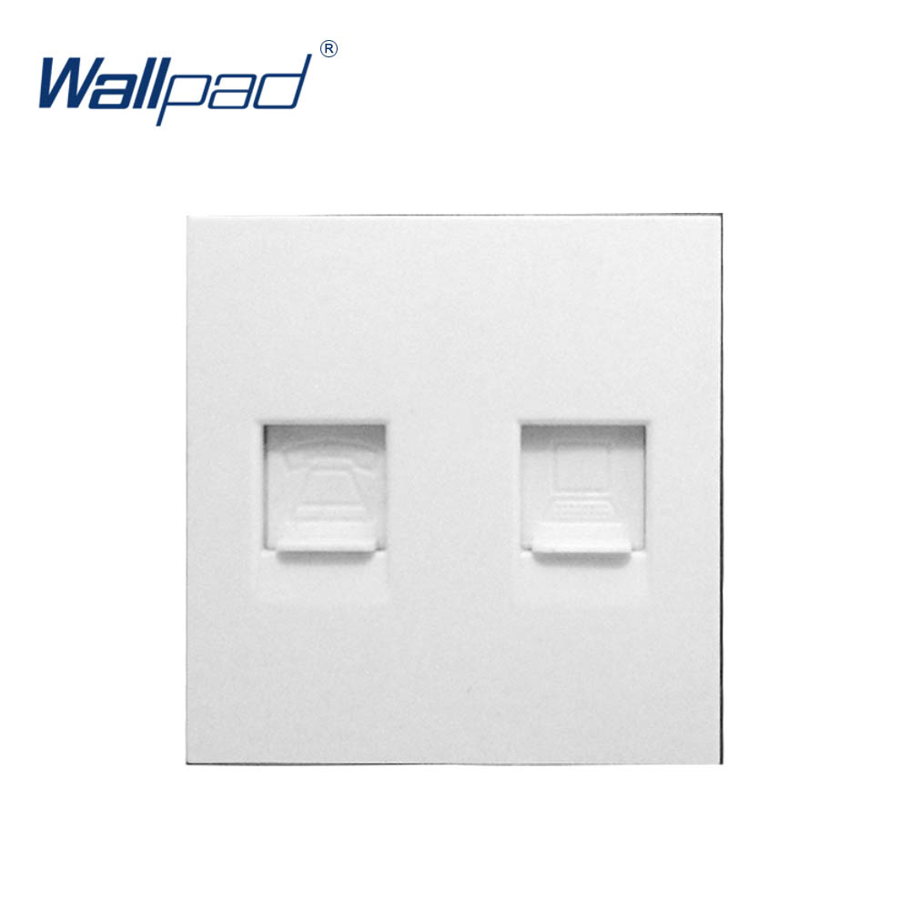 Image 2 - Wallpad Luxury Telephone And Computer Socket DATA Outlet Function Key For Wall White And Black Plastic Module Only-in Switch Accessories from Home Improvement