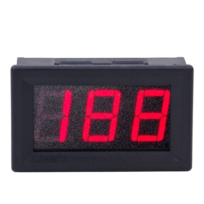 By dhl/fedex Digital 0.56  3 Bit DC 200V Voltmeter Capacitance Panel Red LED Display Car Voltage Detector volt Monitor Tester