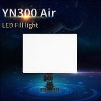 YONGNUO YN300 Air + Ultra Thin On Camera Led Video Light Pad Panel for Canon Nikon Sony Panasonic DSLR & Camcorder Send Net Bag