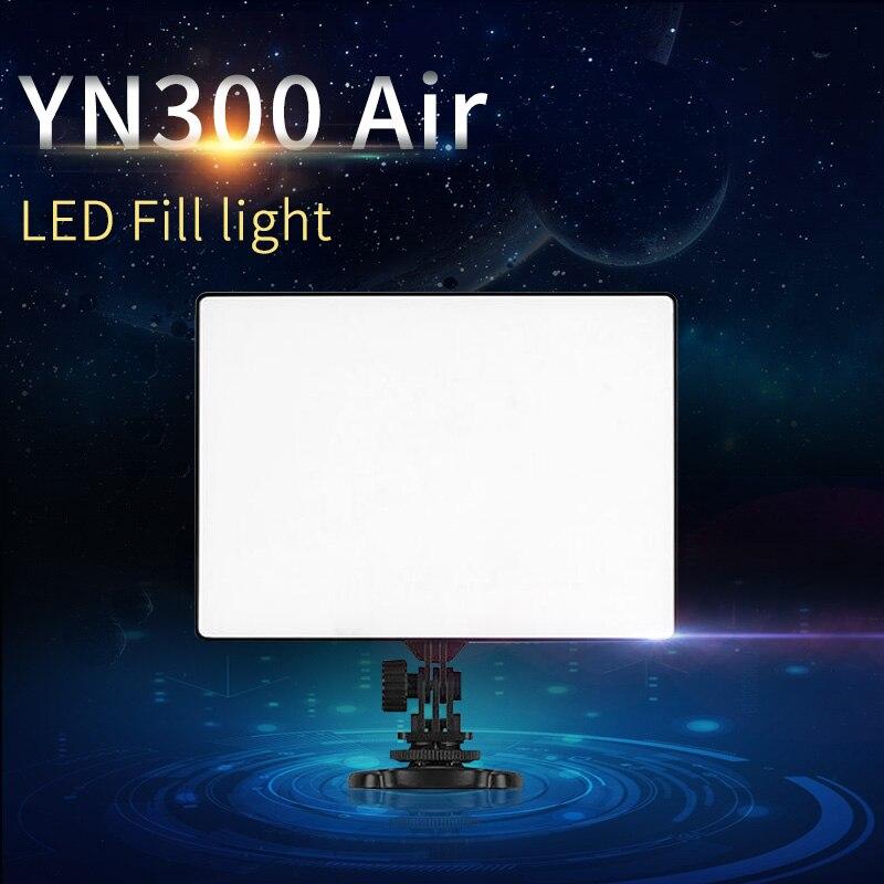 YONGNUO YN300 Air + Ultra mince sur caméra Led panneau de lumière vidéo pour Canon Nikon Sony Panasonic DSLR & caméscope envoyer Net sac