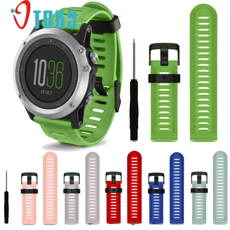 все цены на  Excellent Quality Watch Bands Soft Silicone Strap Replacement Watch Band With Tools For Garmin Fenix 3 New 2016 Watch Straps  онлайн