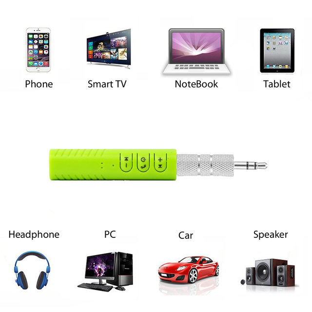 Vexverm 3.5mm Jack Aux Handsfree Wireless Car Bluetooth Receiver Kit Adapter For Headphone MP3 Music Audio Reciever Adapter