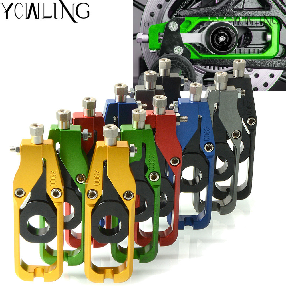 YOWLING Motorcycle Parts CNC Rear left & right Axle Spindle Chain Tensioner Catena Adjuster Blocks for Kawasaki Z900 2017 2018 цены