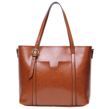 Vintage Split Leather Handbags Women Bags Designer 2019 New Fashion handbags Casual Messenger Bag Large Capacity Tote Wholesale