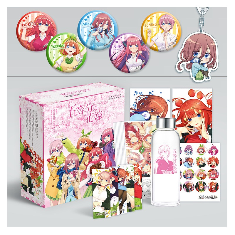 New Anime The Quintessential Quintuplets Luxury Gift Box Water Cup Postcards Posters Comic Set Anime Around