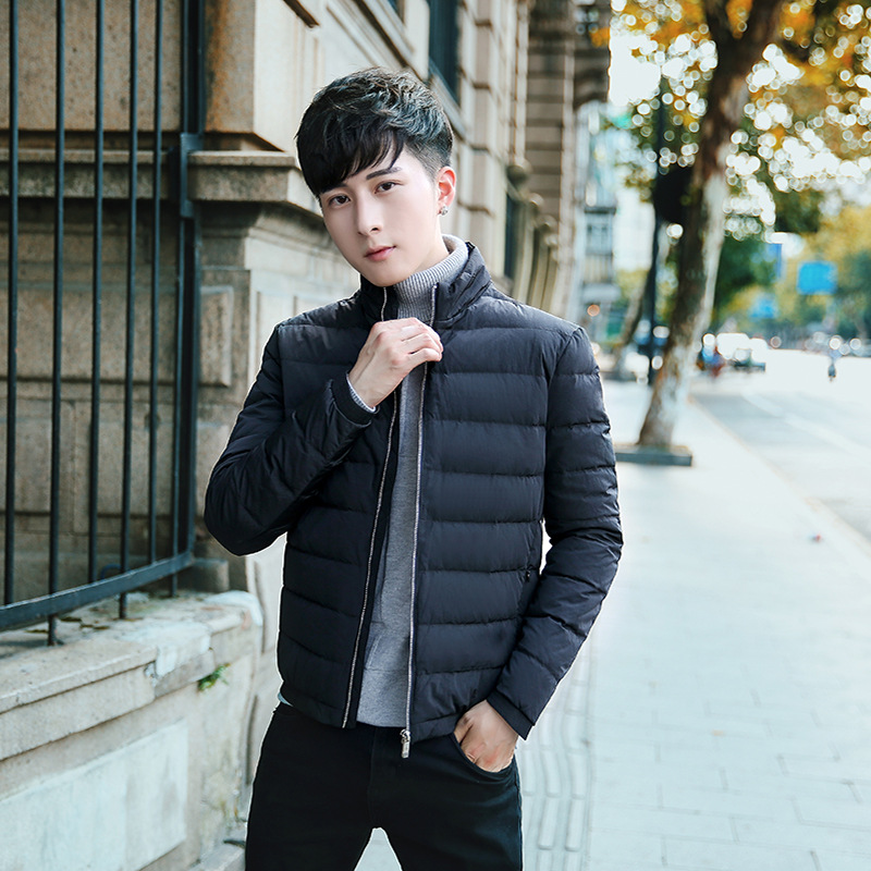 2019 winter men's Stand collar ultra-light slim duck   down   jackets keep warm Breathable windproof waterproof soft   down     coats