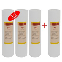 Sediment Replacement Water Filter 5 Micron,10-inch x 2.5-inch,for Under Sink and Reverse Osmosis System(3+1FREE) 5 micron water filter white water purifier 10 inch cartridge reverse osmosis ro sediment pp cotton rust removing particles
