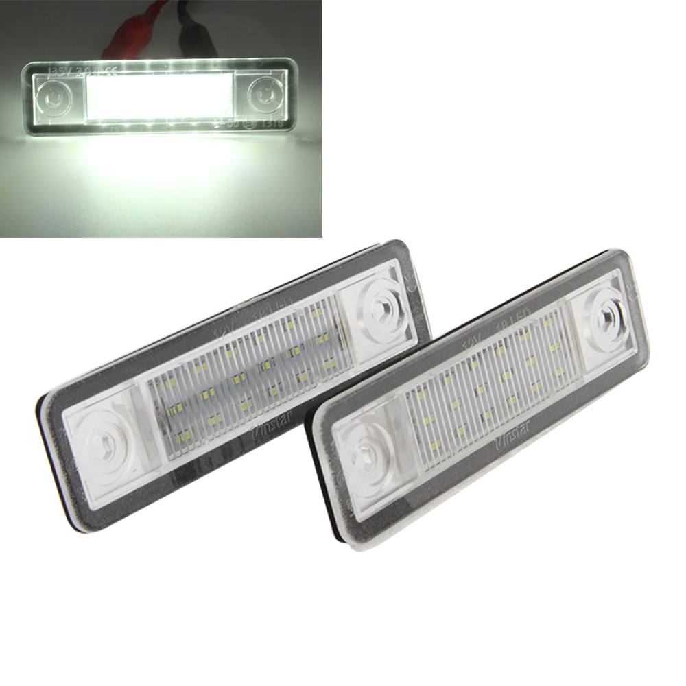 2017 New car auto parts 12V 7000K led license plate light for Omega A  B/Vectra/Zafira A led driving license light for Opel smaart v 7 new license