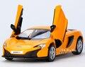 Regalo para el bebé 1:36 1 unid 12.5 cm Yu feng McLaren 650 s coche deportivo de aleación tira del modelo del muchacho juguete de los niños