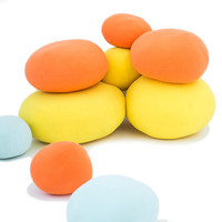 6Pcs/Set ins DIY Colorful Pebbles Cotton Back Cushion Stone PP Cotton Pillow Lazy Sofa Personality Household Scene Arrangement