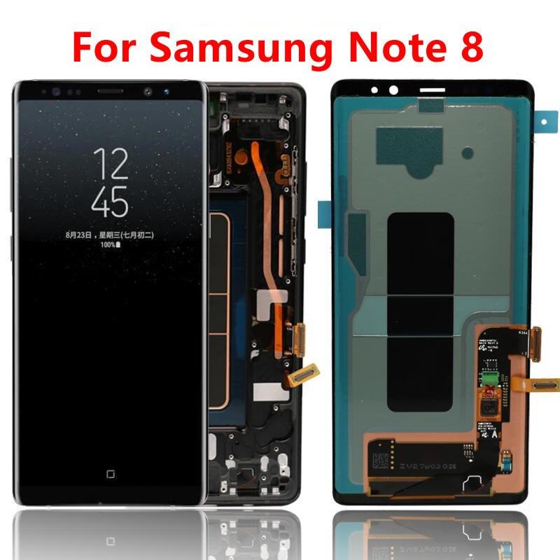LCD d'origine pour Samsung Note 8 LCD affichage numériseur 6.3 pouces Note Galaxy 8 remplacement d'écran