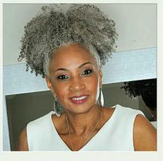 100 Real Hair Gray Puff Afro Ponytail Hair Extension Clip In Remy