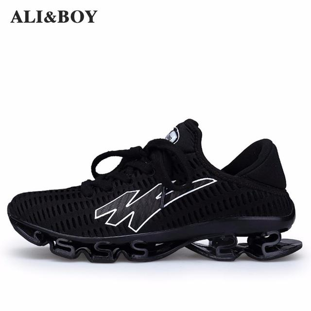 reputable site 3090d fb208 Men s Running Shoes Springblade Sneakers Cushioning Outdoor Sport Shoes For  Men Lightweight Athletic Shoes Male Plus