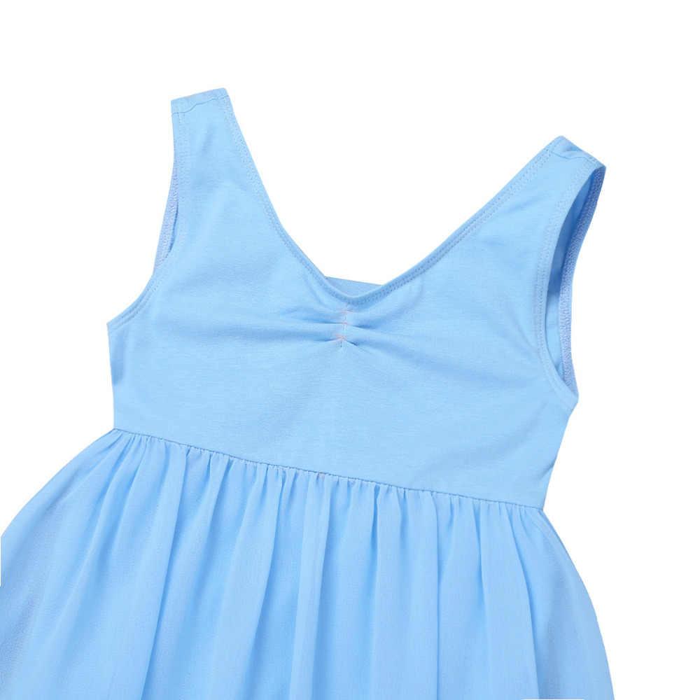 Профессиональное балетное платье-пачка для Девочек Шифоновые Балетные пуанты без рукавов для подростков, Детские гимнастические трико, костюм, платье