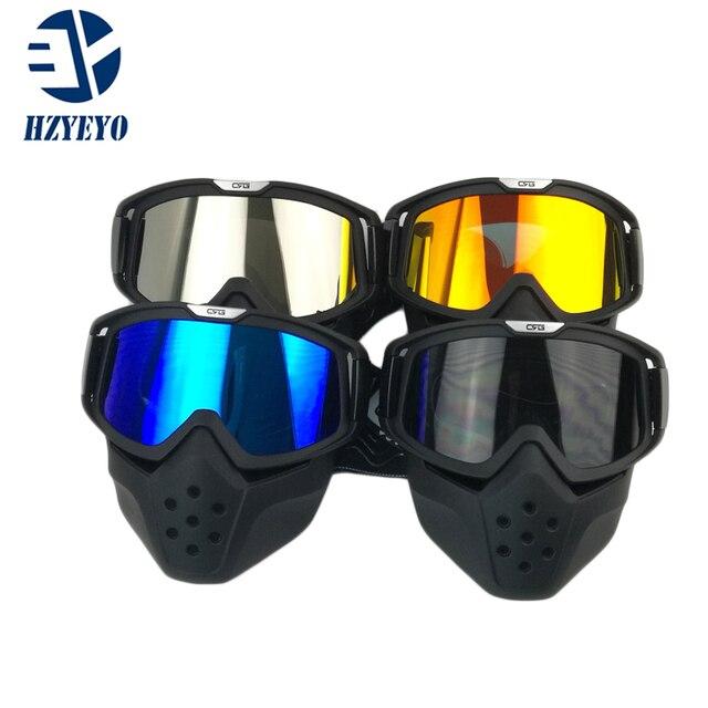 HZYEYO Máscara Destacável Óculos de Proteção do Capacete Da Motocicleta E  da Boca do Filtro para 823bcc0119