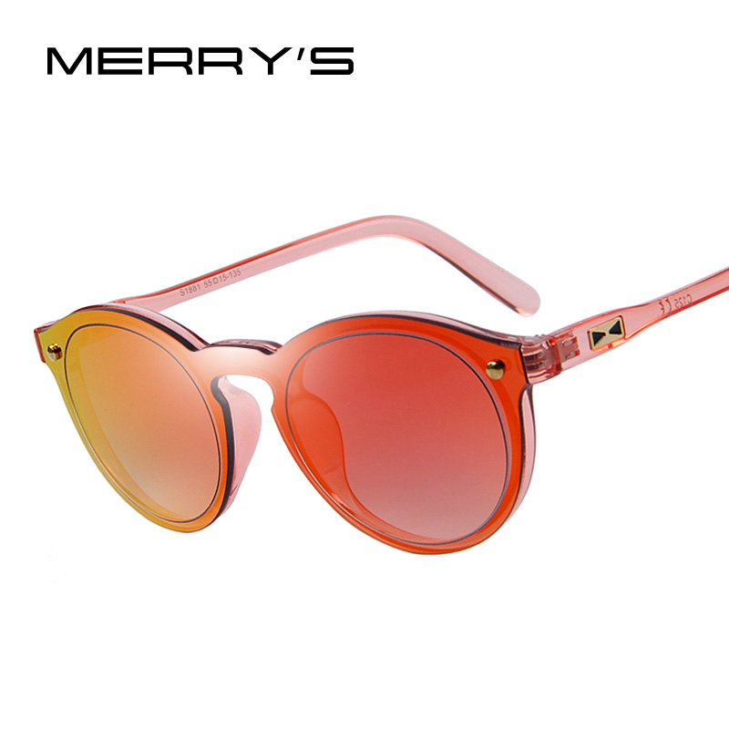 MERRY S Fashion Women Sunglasses Luxury Brand Designer Sun glasses Integrated Eyewear Candy Color UV400