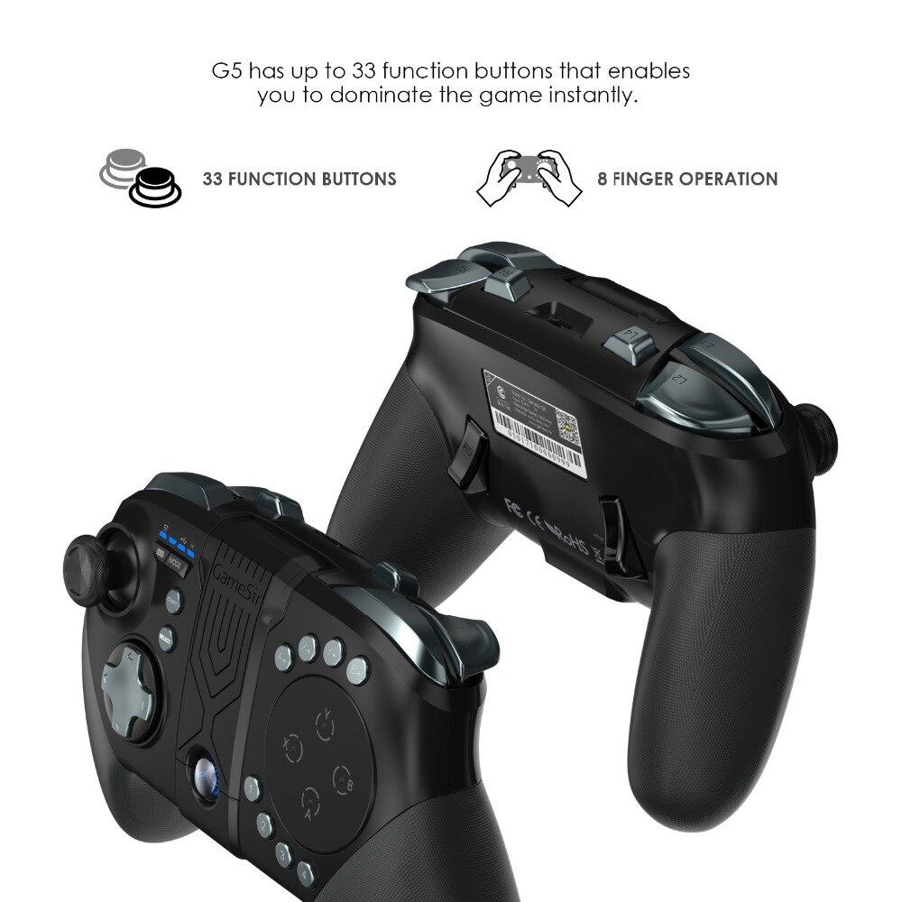 GameSir G5 con Trackpad e Personalizzabile Bottoni, Controller di Gioco per MOBA/FPS/Quinto personalità Senza Fili di Bluetooth Gamepad